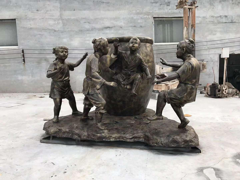 万博官网手机版网页农耕人物雕塑制作案例古镇铜人雕塑